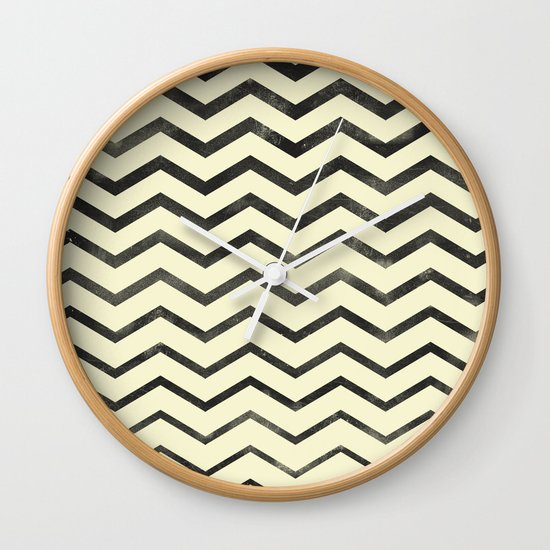 Zag (natural) Wall Clock
