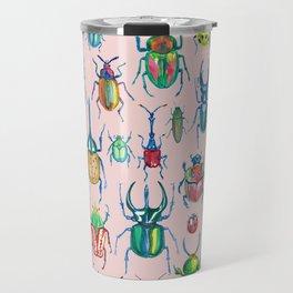 Colours of beetles pink Travel Mug