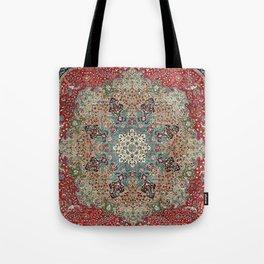 Antique Red Blue Black Persian Carpet Print Tote Bag