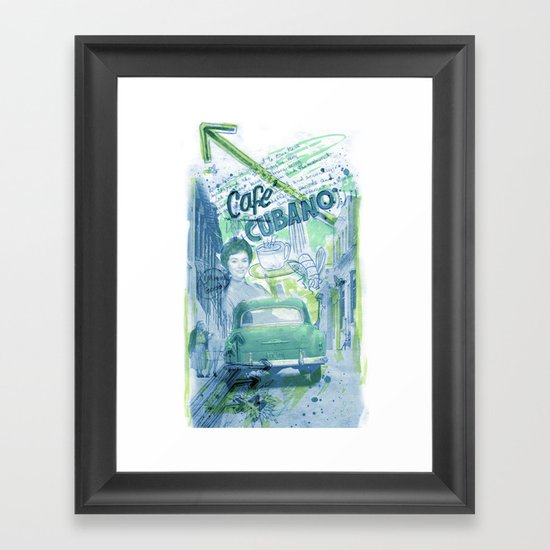 Cafe Cubano Framed Art Print