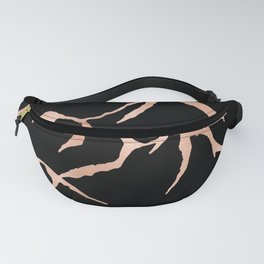 MOUNTAINS Rose Gold on Black Fanny Pack
