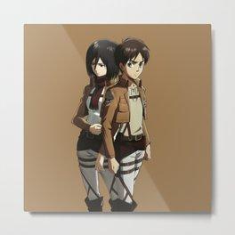 Eren with Mikasa Metal Print