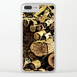 Wood Pile bywhacky Clear iPhone Case