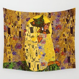 Kiss Klimt Cats Wall Tapestry