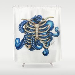 Chtulhu rib cage Shower Curtain