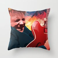 mcfly Throw Pillows featuring Marty McFly by Stephanie Keir