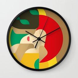Painted Girls #4 Wall Clock