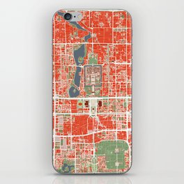 Beijing city map classic iPhone Skin