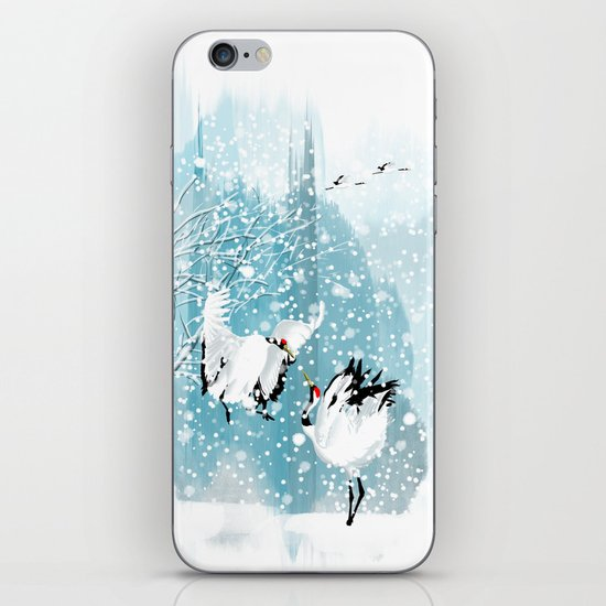 Dancing in the snow iPhone & iPod Skin