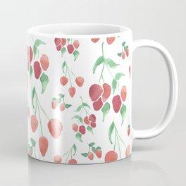 Watercolor Strawberries Coffee Mug