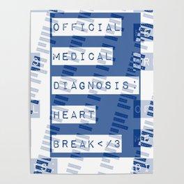 HEART</3BREAK blue Poster