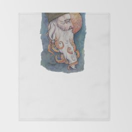 Octopus Man Throw Blanket