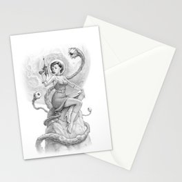 Astro Babe B&W Stationery Cards