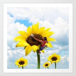 Yellow flower climbing Art Print