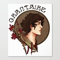 grantaire Canvas Prints featuring grantaire by chazstity