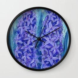 Hyacinths, violet version Wall Clock