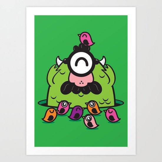 Chameleonster Art Print