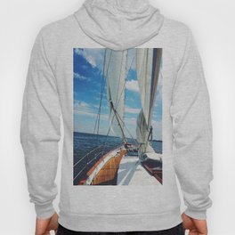Sweet Sailing - Sailboat on the Chesapeake Bay in Annapolis, Maryland Hoody