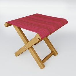 Strawberry Colored Vertical Stripes Folding Stool