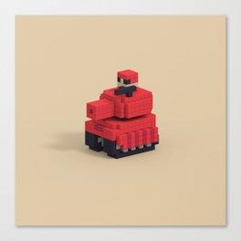 Voxel Advance Wars Tank Canvas Print