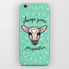 Change Your Perspective Tan Baby Cow iPhone Skin