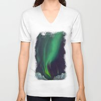 northern lights V-neck T-shirts featuring northern lights by Ewa Pacia