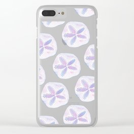Mermaid Currency - Purple Sand Dollar Clear iPhone Case