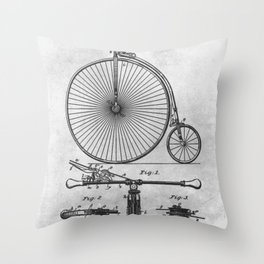 1890 Brake for bicycles Throw Pillow