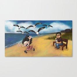 Seagull Attack! Canvas Print