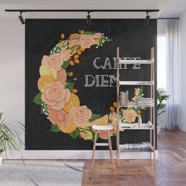 Crescent bloom | Oranges and roses Wall Mural
