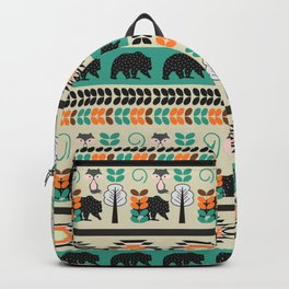 Native spirit with foxes and bears Backpack