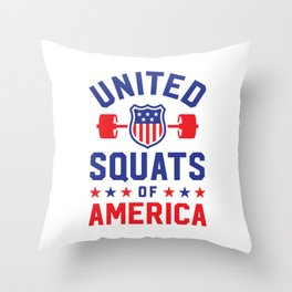 United Squats Of America Throw Pillow