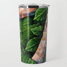 Hands Through Leaves - Brandie Lee - Geometric Shapes - Digital Garden of Eden Travel Mug
