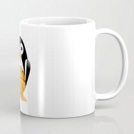 Funny penguin with a basketball ball Coffee Mug