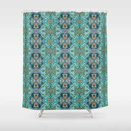 Turquoise marble Shower Curtain