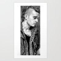 matty healy Art Prints featuring Matty Healy by rachelmbrady_art