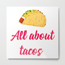 Cinco De Mayo Tacos Design Metal Print