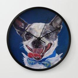 Chihuahua Dog Portrait Wall Clock