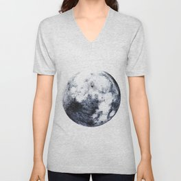 The Other Full Moon | Nature and Landscape Photography Unisex V-Neck