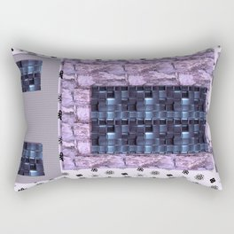 texture for interior decoration purple Rectangular Pillow