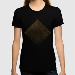 Gold Optical Illusion Pattern T-shirt