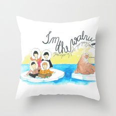 Les Petits - I'm The Walrus Throw Pillow
