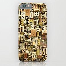 Alphabet iPhone 6s Slim Case