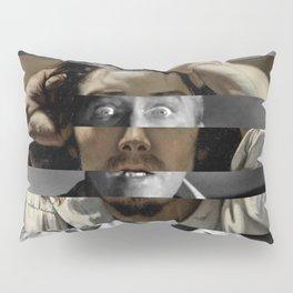 Courbet's The Desperate man & James Stewart Pillow Sham