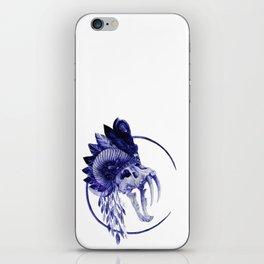 Crowned skull iPhone Skin
