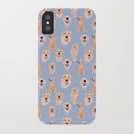 Golden Retrievers on Blue iPhone Case