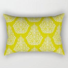 SPIRIT lime white Rectangular Pillow