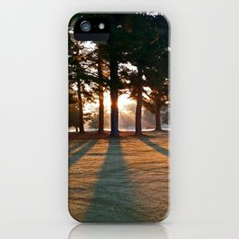 Willow Lake Golf Course Morning iPhone Case