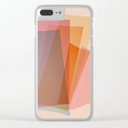 Abstraction_Spectrum Clear iPhone Case
