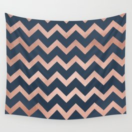 Blue & Pink Chevron Wall Tapestry